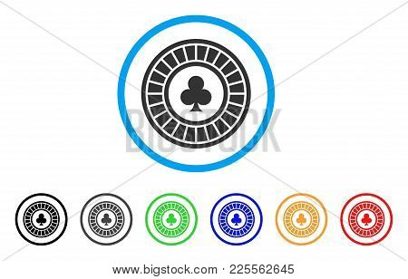 Casino Roulette Icon. Vector Illustration Style Is A Flat Iconic Casino Roulette Black Symbol With G