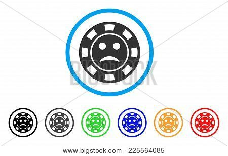 Pity Casino Chip Icon. Vector Illustration Style Is A Flat Iconic Pity Casino Chip Black Symbol With