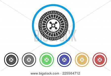 Digital Casino Roulette Icon. Vector Illustration Style Is A Flat Iconic Digital Casino Roulette Bla