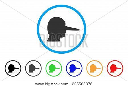 Lier Icon. Vector Illustration Style Is A Flat Iconic Lier Black Symbol With Gray, Yellow, Green, Bl