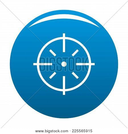 Specific Target Icon Vector Blue Circle Isolated On White Background