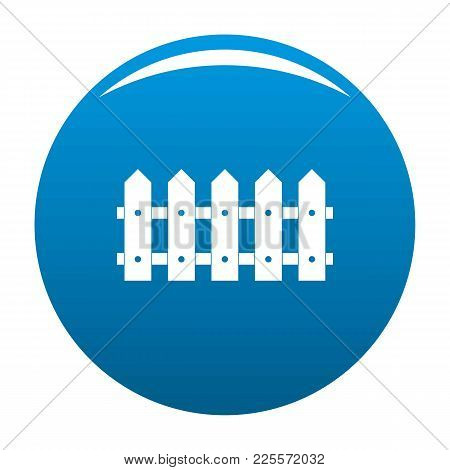 Rare Fence Icon Vector Blue Circle Isolated On White Background