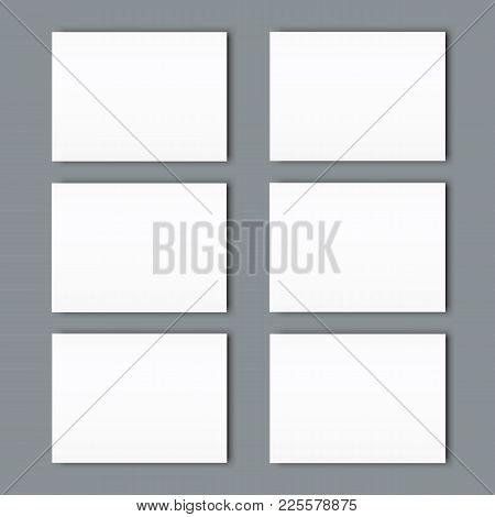 Big Set Of Poster Blank Bi Fold Brochure Mockup Cover Template.