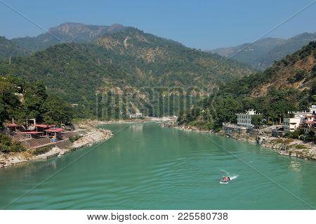 Beautiful View Of Ganga River In Rishikesh