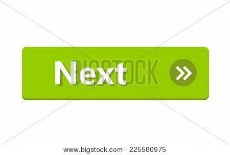 Next Button Isolated On White Background. Vector Stock.