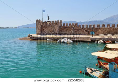 Fishing village of Nafpaktos located in Greece