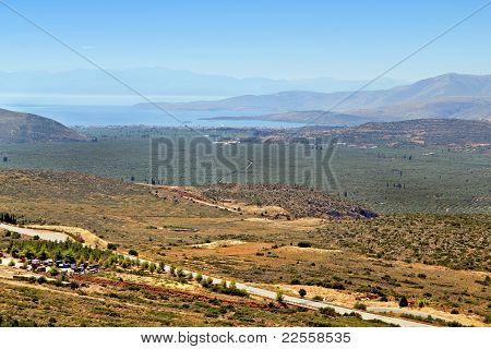 Valley of Amphissa at Delphi, Greece