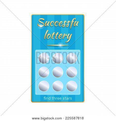 Lottery Ticket For Drawing Money, Prizes. Ticket For Event, Financial Success, Growth, Luck, Money W