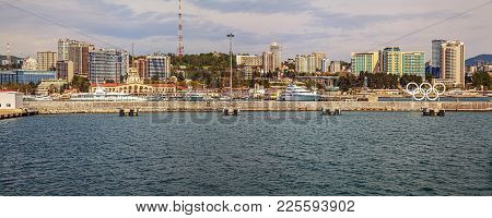 Sochi, Russia - April 29, 2015: View Of The City From The Sea.