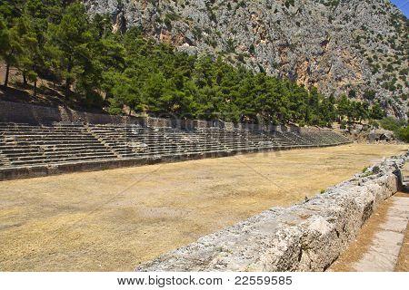 Ancient stadium at Delfi