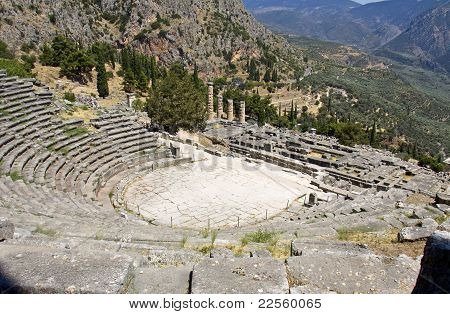 The theater of ancient Delphi