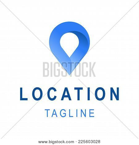 Location Icon. Template Business Logo Design With Tagline Space. Vector Illustration Of Creative Cor