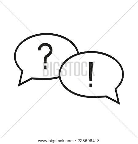 Question And Answer Icon On The White Background