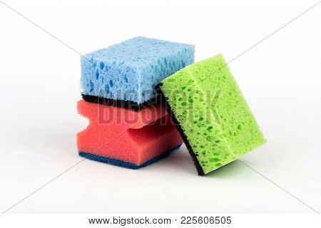 Sponge For Washing Dishes. Multi-colored Sponge. Sponge
