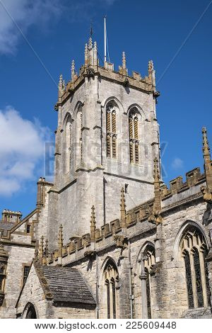 A View Of St Peters Church In Dorchester, Dorset, Uk.