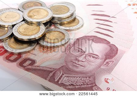 Many Coin And Bank  In Thai.