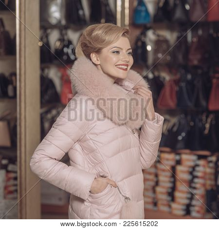 Fashionable Woman In Coat. Fashion Autumn Winter Photo
