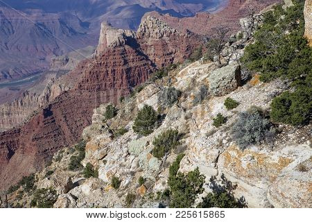 The Different Geological Features Of The South Rim In Arizona