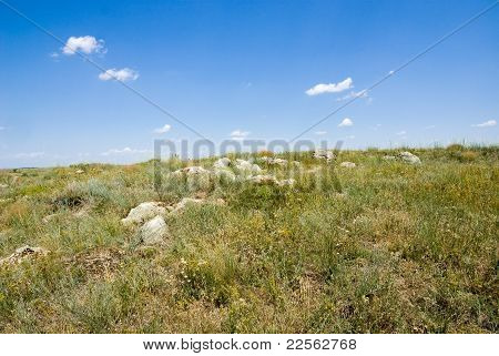 Scattering Of Stones In The Steppe