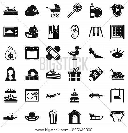 Bring Up Children Icons Set. Simple Set Of 36 Bring Up Children Vector Icons For Web Isolated On Whi