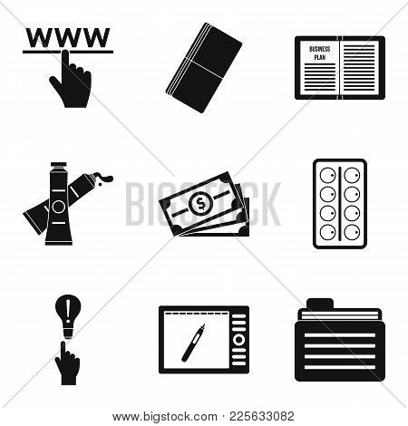 Clerical Work Icons Set. Simple Set Of 9 Clerical Work Vector Icons For Web Isolated On White Backgr