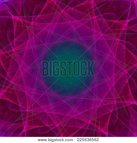colorful symmetrical abstract background, intricate details