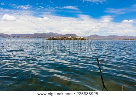 Landscape Of Islands Uros  Ion Titicaca Lake, Peru