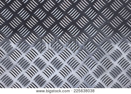 Metal Floor Plate With Diamond Pattern Background