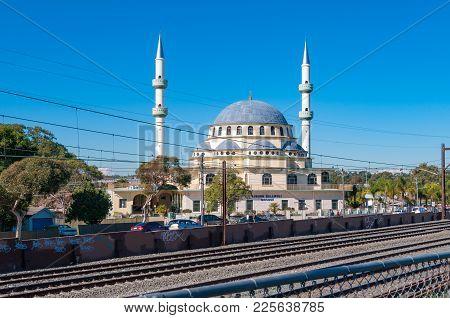 Sydney, Australia - July 18, 2009: Auburn Gallipoli Mosque In Sydney Suburb