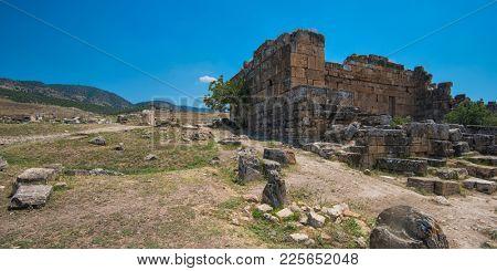 photo of ancient city Hierapolis, near modern turkey city Denizli, Turkey