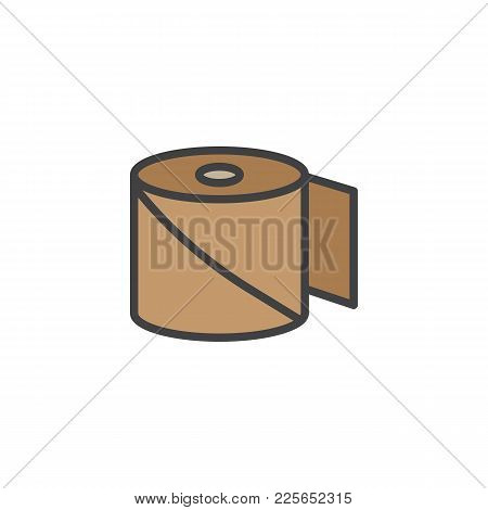 Bandage Filled Outline Icon, Line Vector Sign, Linear Colorful Pictogram Isolated On White. Medical