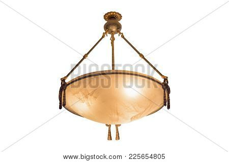 Chandelier Lamp Isolated On White Background, With Clipping Path.