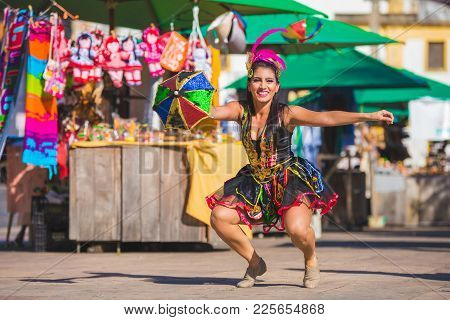 Carnival Brazil 2018. Brazilians Celebrate The Carnival In Olinda, Pernambuco, Brazil