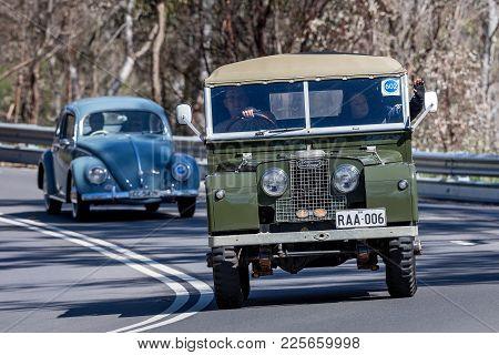 Adelaide, Australia - September 25, 2016: Vintage 1958 Landrover Series 1 88