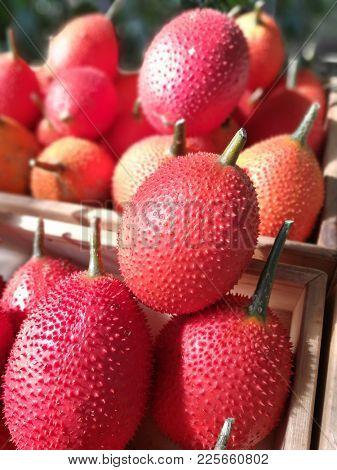Ripe gac fruits