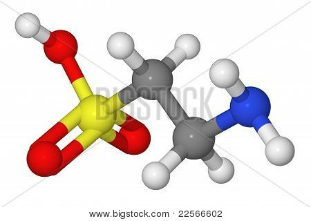 Ball And Stick Model Of Taurine Molecule