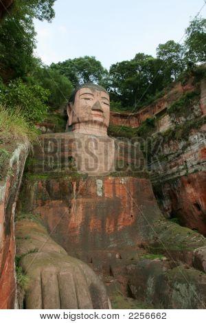 Grand Buddha Statue In Leshan, China