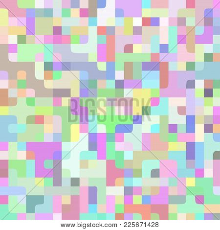 Abstract Light Colorful Vector Pixel Horizontal Technology Background. Business Backdrop With Pixels