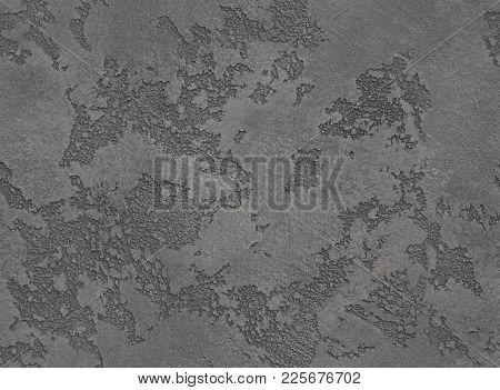 Dramatic Grey Grunge Seamless Stone Texture. Gray Venetian Plaster Background Seamless Stone Grunge