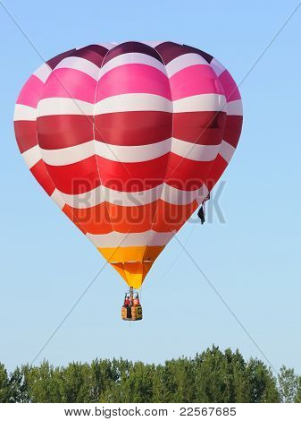colorful hot air balloon just taking off poster