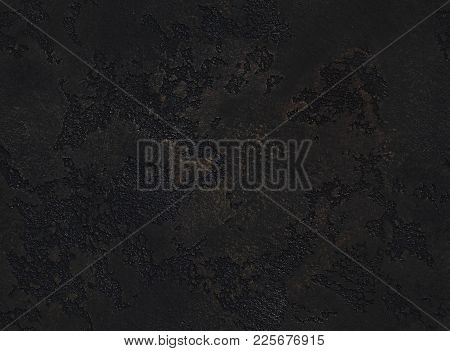 Dramatic Dark Grunge Seamless Stone Texture. Black Venetian Plaster Background Seamless Stone Grunge