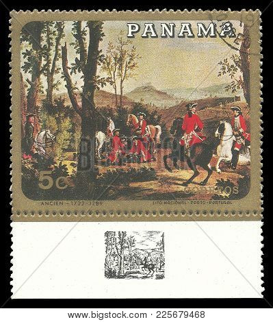 Panama - Circa 1968: Stamp Printed By Panama, Color Edition On Art, Shows Painting Tischbein By Anci