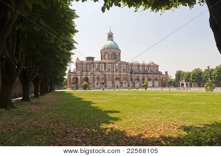 Sanctuary Of Caravaggio (bergamo, Lombardy, Italy), Church And Park
