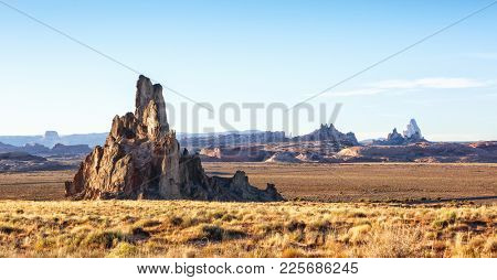 Church Rock is a pillar in Navajo County, near Kayenta, Arizona, United States. Church Rock is  located near the mouth of Church Rock Valley.