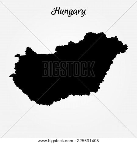 Map Of Hungary. Vector Illustration. World Map