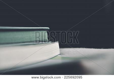 Depth Of Field Of Loop Binding Book On The Bed With Light From The Window On The Morning Concept Of