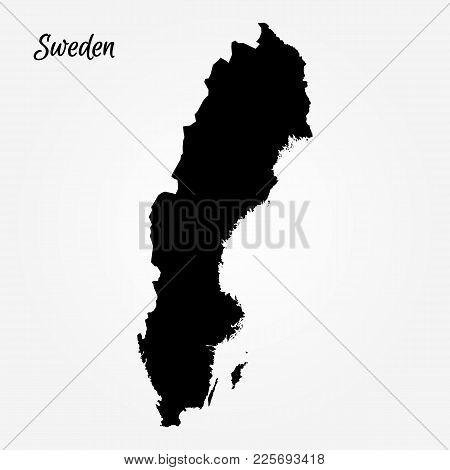 Map Of Sweden. Vector Illustration. World Map