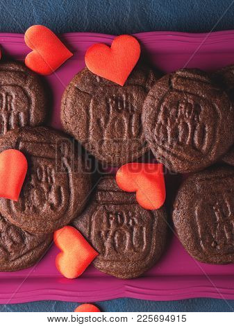 Chocolate Cookies For Valentine's Day