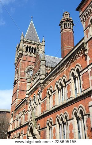 City Police Courts Building In Manchester - City In North West England (uk). Grade Ii Listed Buildin