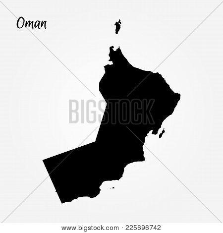 Map Of Oman. Vector Illustration. World Map